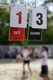 Tennis scoreboard Stock Images