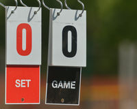Tennis scoreboard Royalty Free Stock Photography