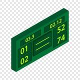 Tennis scoreboard isometric icon Stock Photography