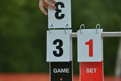 Tennis scoreboard Royalty Free Stock Photos