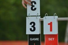 Tennis scoreboard Royalty Free Stock Photos