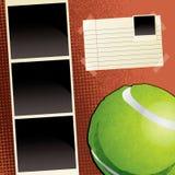 Tennis Scrapbook Template Stock Photos