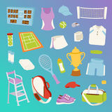 Tennis seamless pattern vector. Tennis seamless pattern vector athlete stylized patches icons. Champion training exercise fashion equipment background. Fitness Royalty Free Stock Image