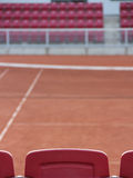 Tennis seat and court Royalty Free Stock Images