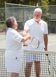 Tennis Seniors - Handshake Stock Images