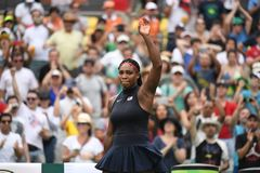 Tennis -Serena Williams. Rio de Janeiro- Brazil  Tennis game during the 2016 Olympic Games at the Olympic Park. American player Serena Williams Royalty Free Stock Images