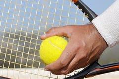 Tennis serve Stock Photo