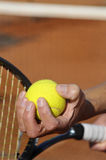 Tennis serve Royalty Free Stock Image