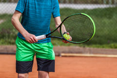 Tennis serve position Royalty Free Stock Image