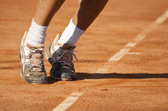 Tennis service royalty free stock photo