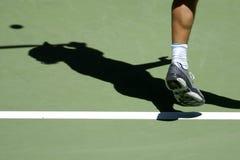 Tennis shadow 02a stock photo