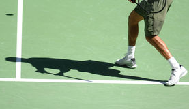 Tennis shadow 20 Stock Photography