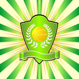 Tennis shield Stock Images
