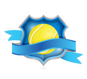 Tennis shield seal illustration design. Over a white background Stock Photo