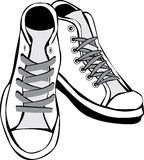 Tennis shoes royalty free illustration