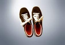Tennis shoes. A tennis shoes on the isolated background stock photos