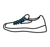 Tennis shoes sport isolated icon Royalty Free Stock Image