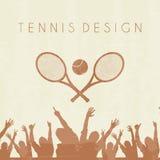 Tennis silhouette Stock Photos