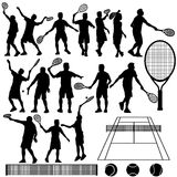 Tennis Silhouette Vector Stock Photography