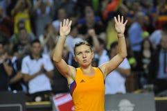 Tennis Simona Halep della donna Fotografia Stock Libera da Diritti