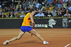 Tennis Simona Halep della donna durante il gioco Fotografia Stock