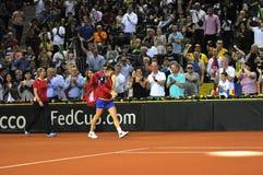 Tennis Simona Halep della donna durante il gioco Immagini Stock