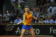 Tennis Simona Halep della donna durante il gioco Immagine Stock