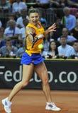 Tennis Simona Halep della donna durante il gioco Fotografie Stock Libere da Diritti