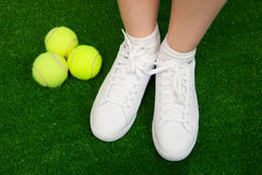 Tennis sneakers Stock Images