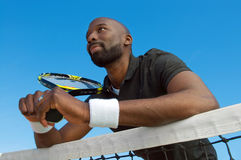Tennis-Spieler stockfoto