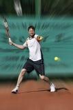 Tennis-Spieler stockfotografie