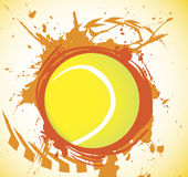 Tennis splash Royalty Free Stock Image