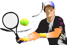 Tennis sport art Stock Photos
