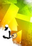 Tennis sport background stock illustration