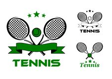 Tennis sport badges and emblems Royalty Free Stock Photo