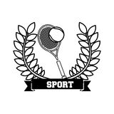 Tennis sport emblem icon Stock Photography
