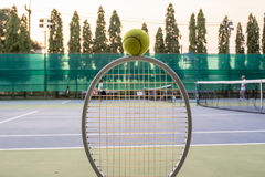 Tennis sport. Tennis is a racket sport and in Olympic sport and is played at all levels of society and at all ages Stock Images