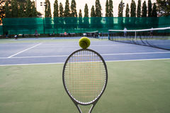 Tennis sport. Tennis is a racket sport and in Olympic sport and is played at all levels of society and at all ages Royalty Free Stock Photography