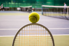 Tennis sport. Tennis is a racket sport and in Olympic sport and is played at all levels of society and at all ages Stock Photo