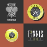 Tennis, sport set of vector logo, icon, symbol, emblem Stock Image