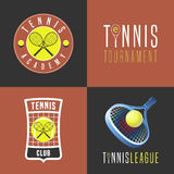 Tennis, sport set of vector logo, icon, symbol, emblem, badge Stock Image