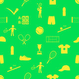 Tennis sport theme seamless green pattern eps10 Royalty Free Stock Photo