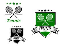 Tennis sportieve emblemen Royalty-vrije Stock Afbeelding