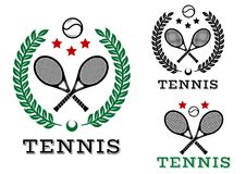 Tennis sporting emblems and symbols Stock Photography