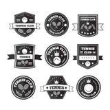 Tennis sporting vintage emblems Royalty Free Stock Image