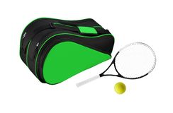 Tennis sports bag isolated royalty free stock photography