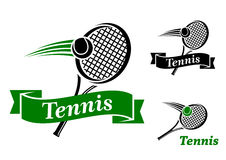 Tennis sports emblems Stock Photo