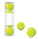 Tennis stack Royalty Free Stock Image