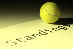 Tennis standings Royalty Free Stock Images