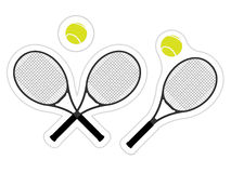 Tennis Sticker Stock Photo